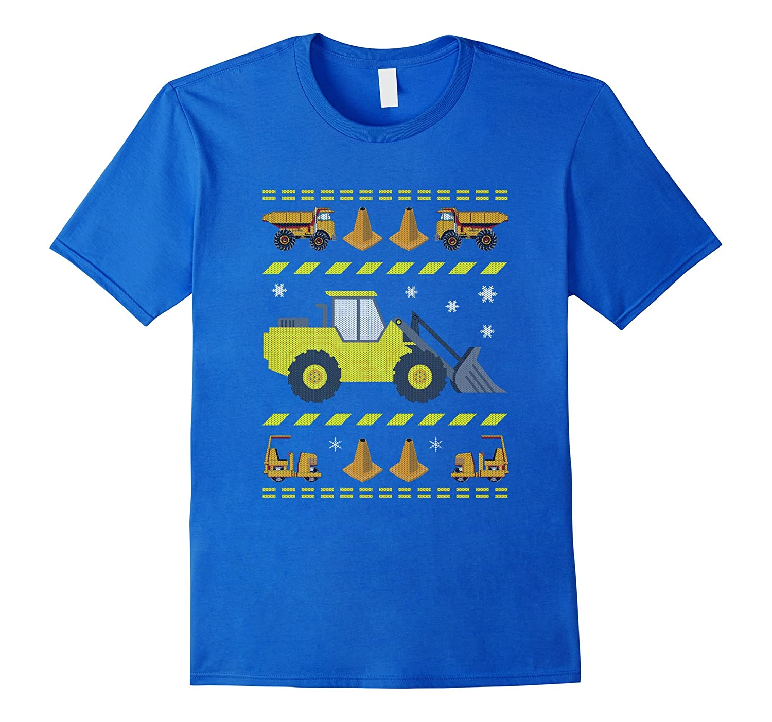 d0cad36ad0295b Kids Tractors & Bulldozers Ugly Christmas Sweater T-Shirt-BN ...