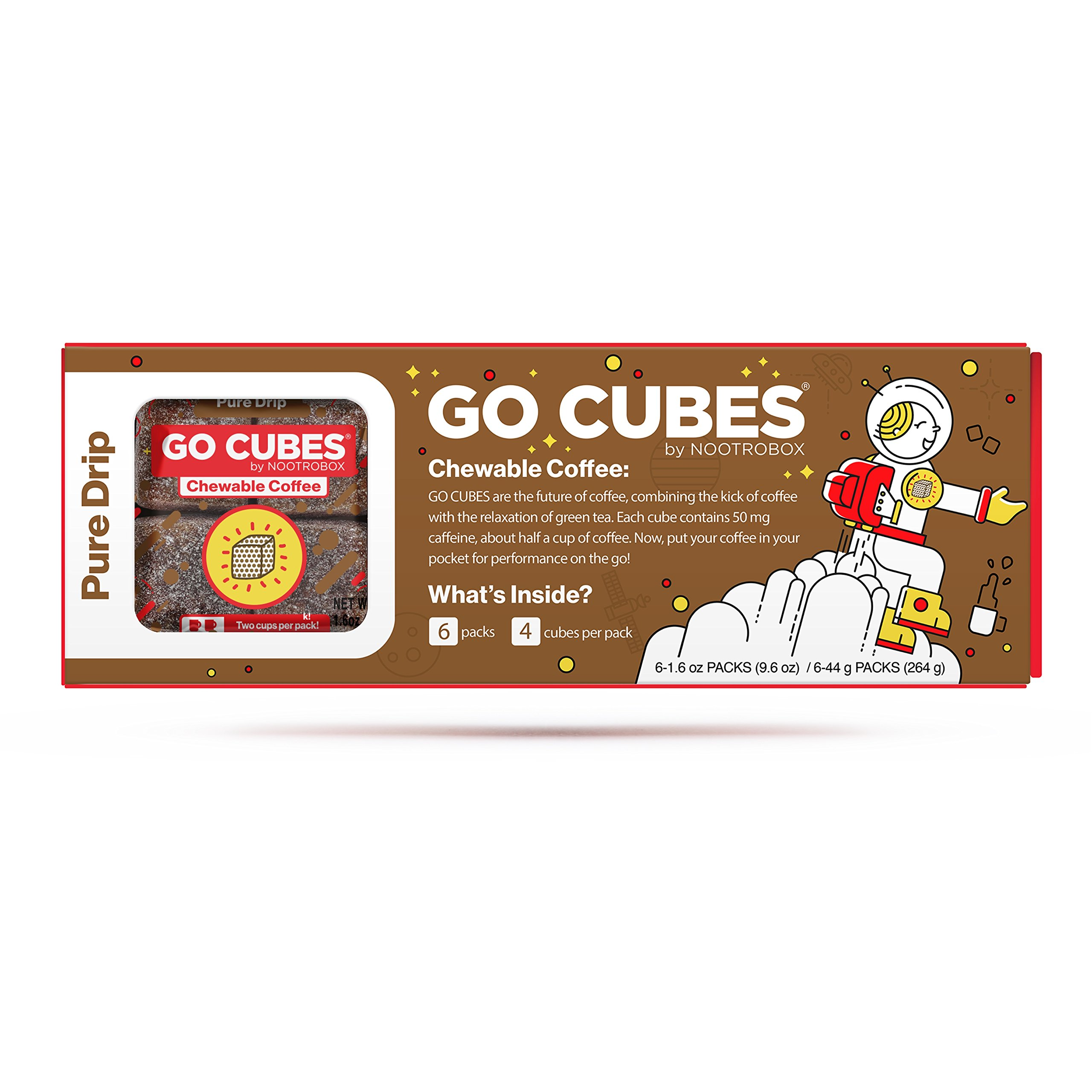 Amazon Com Go Cubes Chewable Coffee Starter Box 6 X 4 Packs
