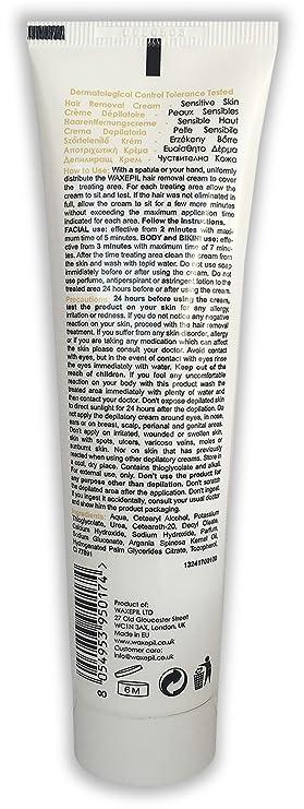 waxepil Depilación Crema Depilatoria con aceite de argán marroquí, especial Bikini, rostro y cuerpo - Pack de 3 x 100 ml (1 crema de £ 3.99): Amazon.es: ...