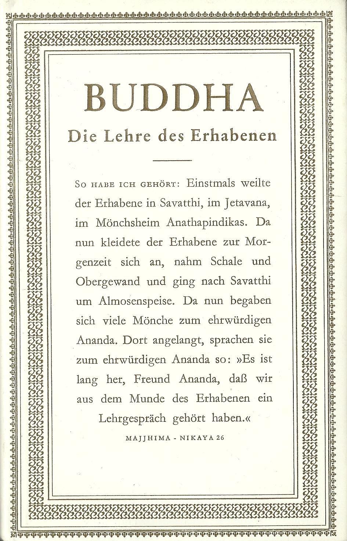 Buddha: Die Lehre des Erhabenen Gebundenes Buch – November 1982 Gautama Buddha Paul Dahlke Martin Steinke - Tao Chün Goldmann Wilhelm GmbH
