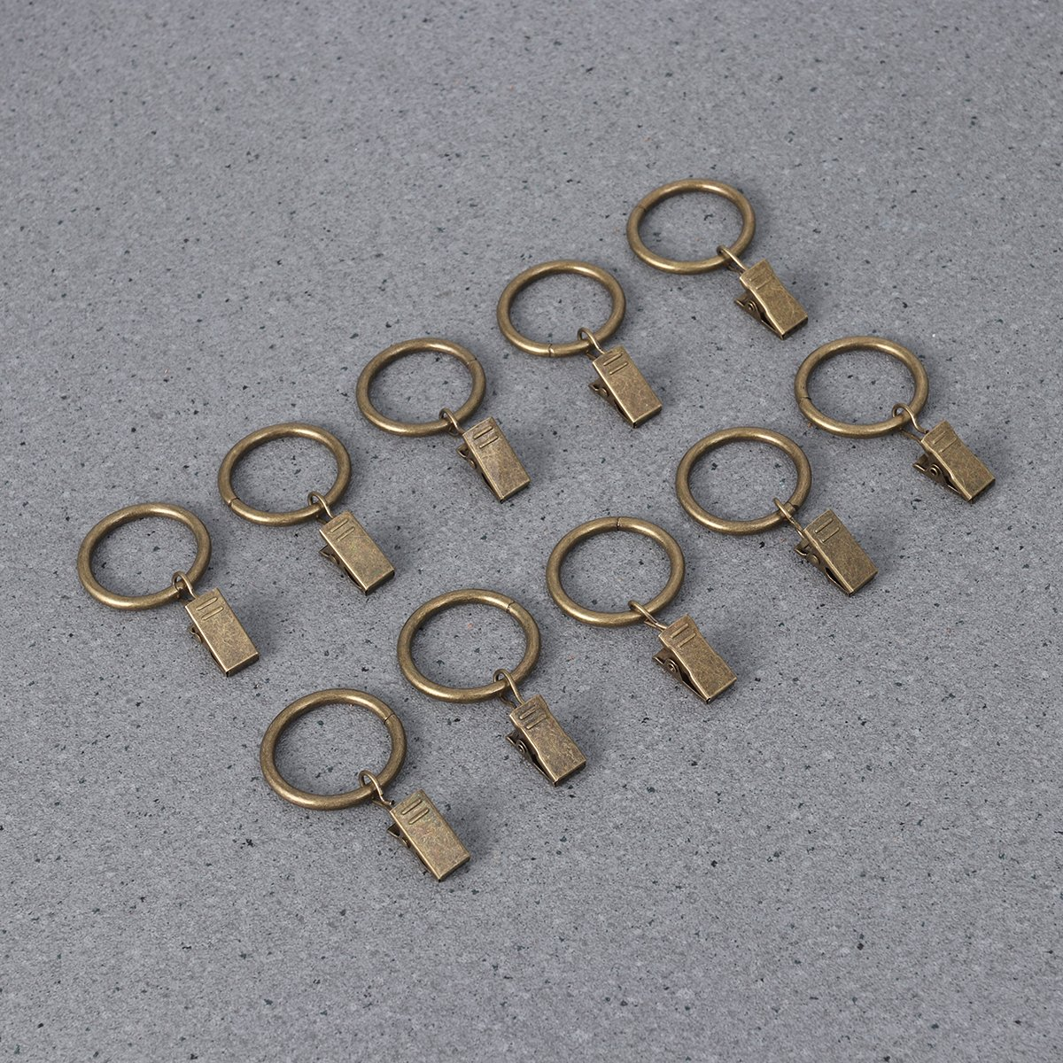 WINOMO 10 anillas de tejido anti/óxido con gancho bronce anillo de cortina vintage 3,5 x 25/mm