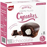 Katz Gluten Free Chocolate Crème Filled Cupcakes | Dairy, Nut, Soy and Gluten Free | Kosher (1 Pack of 4 Crème Cupcakes, 7 Ounce)