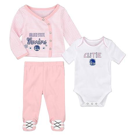 8d1250973ed Amazon.com : Outerstuff Golden State Warriors Little Cutie Girl 3 ...