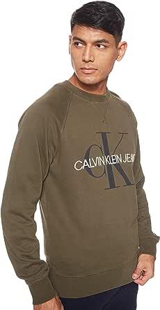 Calvin Klein Jeans Men's Washed Reg Monogram Cn Sweatshirts