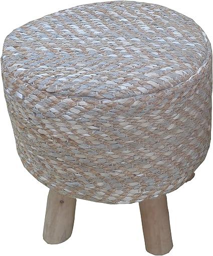 Amazon Com Acme Furniture 96428 Annah Leather And Jute Stool