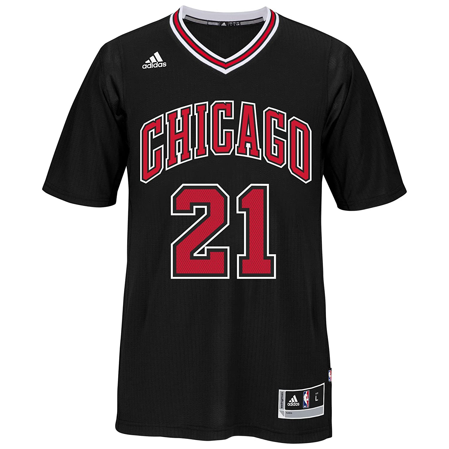 2beeb6664dff Amazon.com   Chicago Bulls Jimmy Butler  21 Swingman Jersey NBA Adidas  Official Black Stitched   Sports   Outdoors