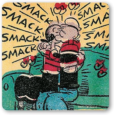 Popeye The Sailor Licensed original design Set of 6 Drinks Mats Logoshirt Cartoon Popeye /& Olive multicoloured Set of coasters