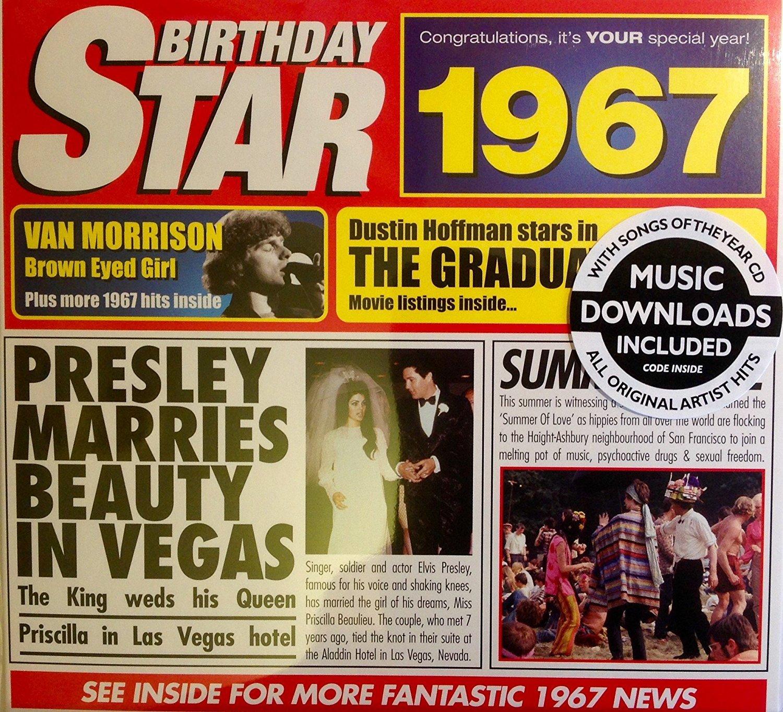 1967 Geburtstags Geschenke 1967 Chart Hits CD und 1967