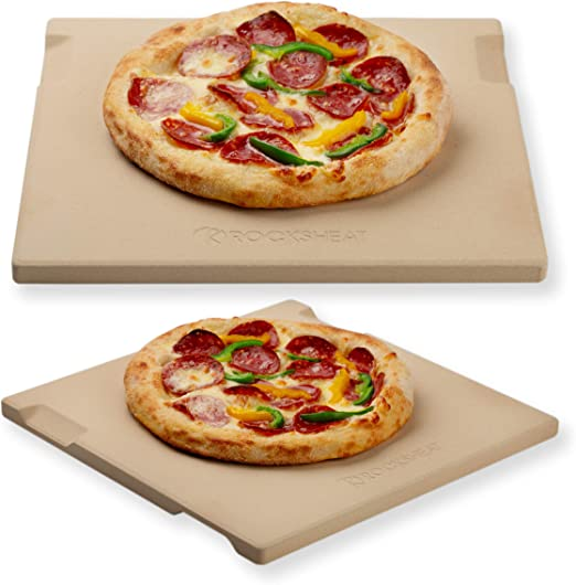 Elly D/écor Pizza Stone 14 Round Baking Stone for Bread Ceramic Pizza Grilling Stones for Cooking and Baking BBQ and Grill Pizza Stone for Oven