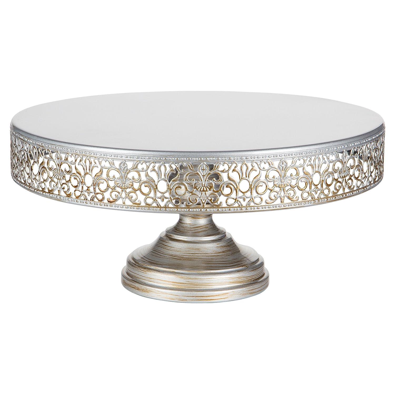 Amazon.com | Victoria Collection Antique Silver 14 Inch Cake Stand ...