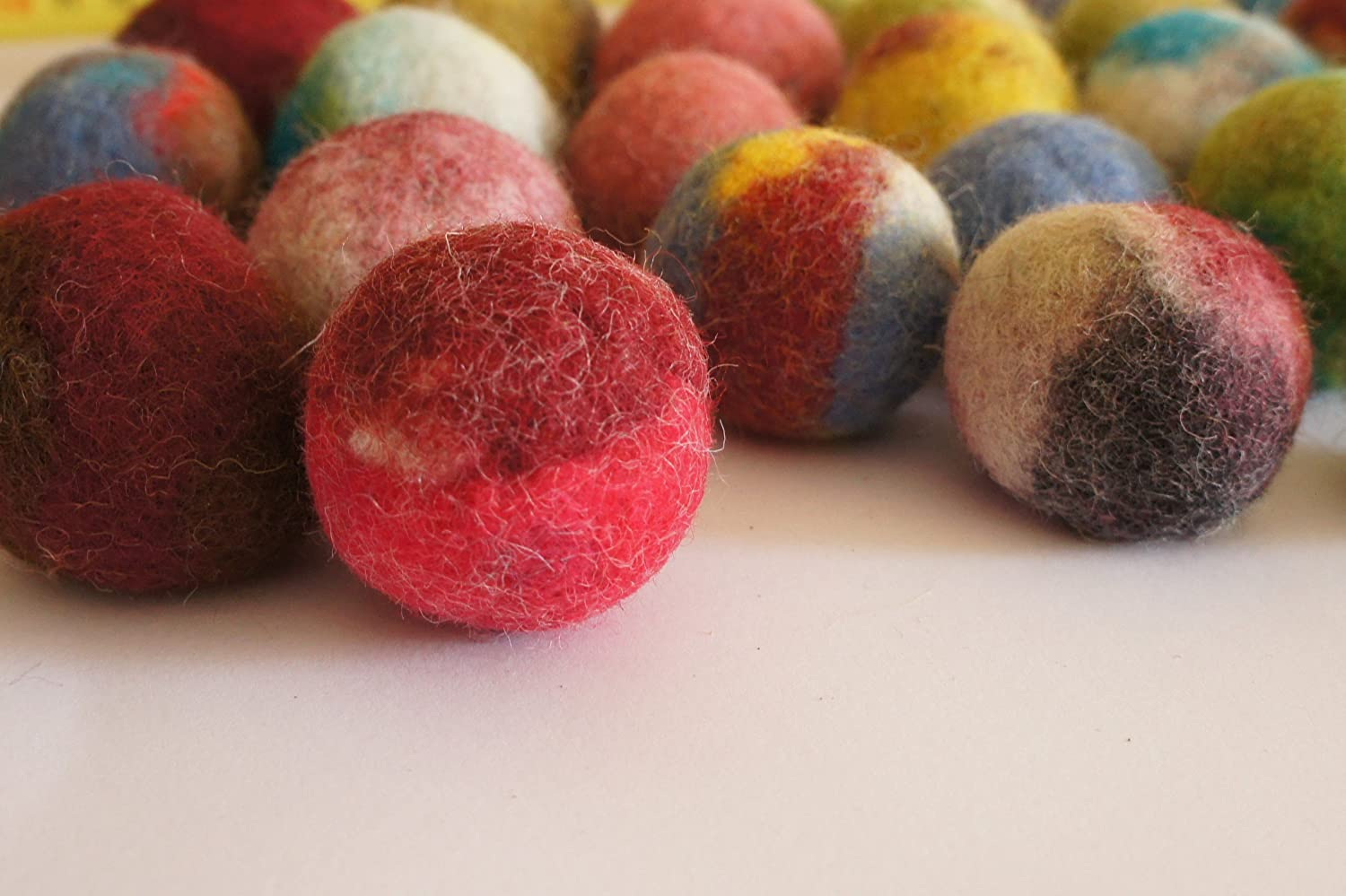 Kivikis Cat Toy, 10 Felted Wool Balls. Handmade from Ecological Wool Made 3-4 cm Diameter