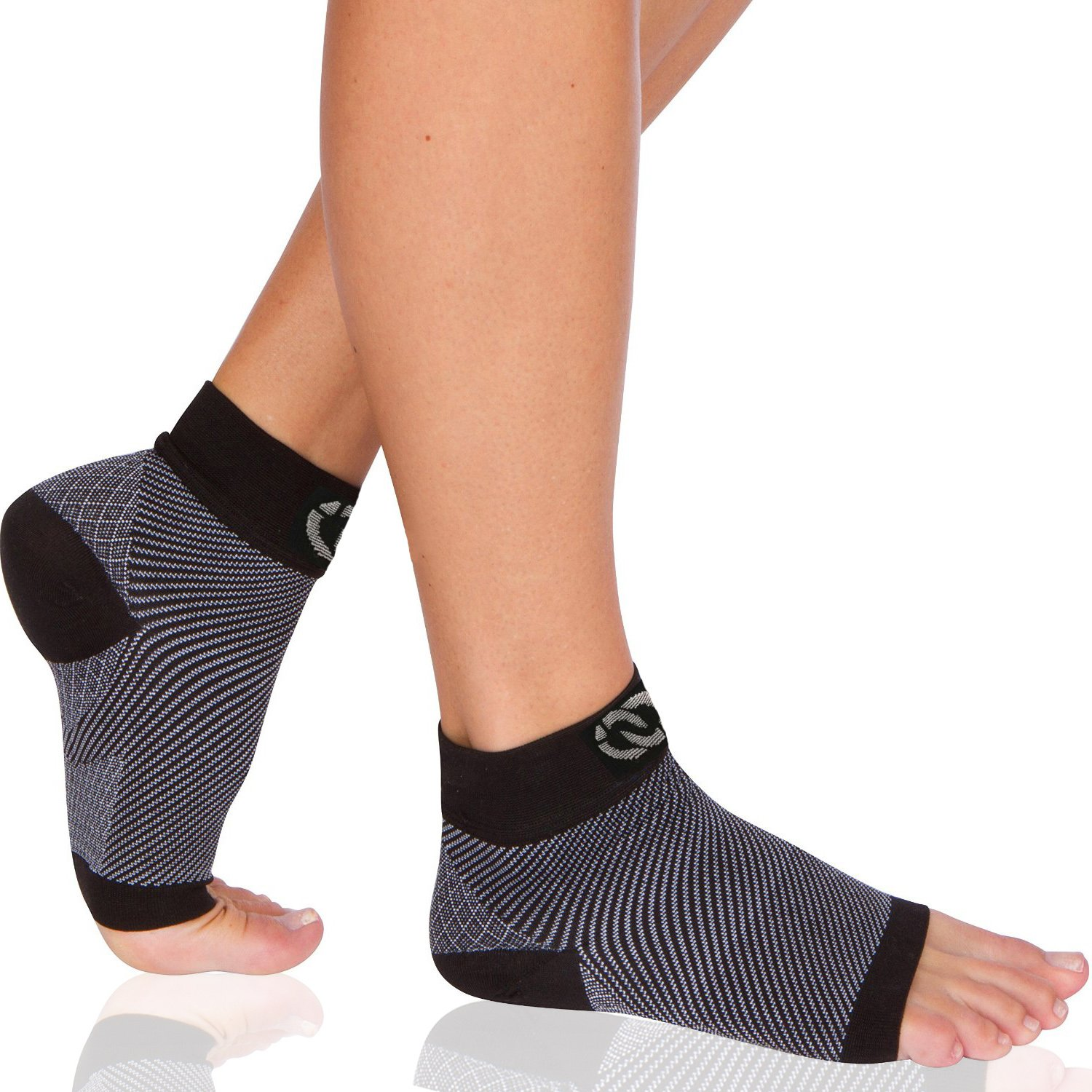 Compressions Plantar Fasciitis Socks (1 Pair) Foot Sleeves with Arch & Heel Support Treatment for Men & Women - Best to Brace Insoles for Relief (Medium) by Compressions