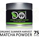 DoMatcha - Organic Summer Harvest Matcha Powder, Natural Source of Antioxidants, Caffeine, and L-Theanine, Promotes Focus and Relaxation, 75 Servings (2.82 oz)