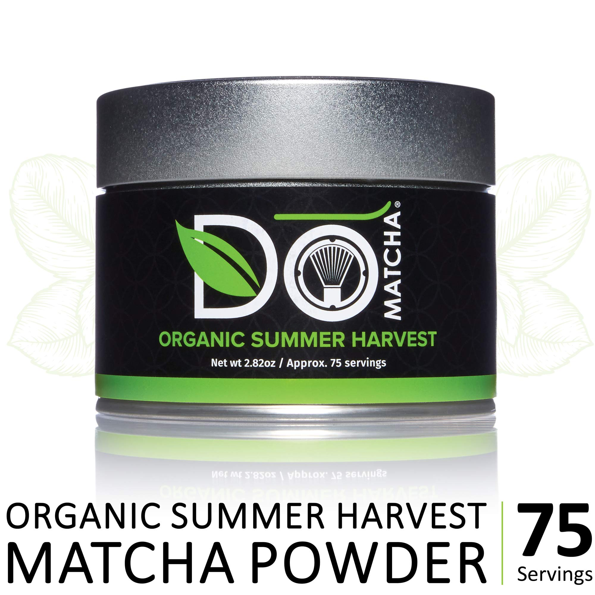 DoMatcha - Organic Summer Harvest Green Tea Matcha Powder, Natural Source of Antioxidants, Caffeine, and L-Theanine, Promotes Focus and Relaxation, 75 Servings (2.82 oz) by DoMatcha