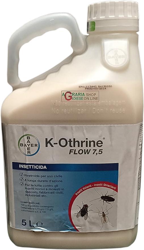 Bayer K-Othrine Flow 7, 5- Insecticida para mosquitos y moscas 5 l: Amazon.es: Jardín