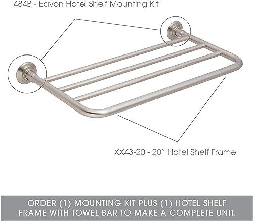 Ginger 484B SN Hotel Shelf Mounting Kit, Eavon, Satin Nickel