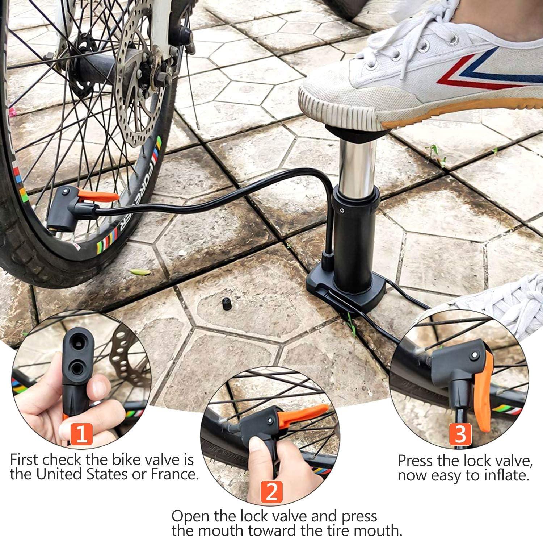 Bomba para Bicicleta,Sucastle Bombas de marco para bicicletas,Bomba de Mano peque/ñ Port/átil con Aguja,Mini Bomba Telesc/ópica para Bicicleta,Bomba de Aire para Bicicleta,MTB,BMX,Motocicleta,Pelota.