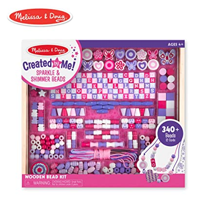 e1c58e59970c Amazon.com: Melissa & Doug Deluxe Collection Wooden Bead Set With 340+ Beads  for Jewelry-Making: Melissa & Doug: Toys & Games