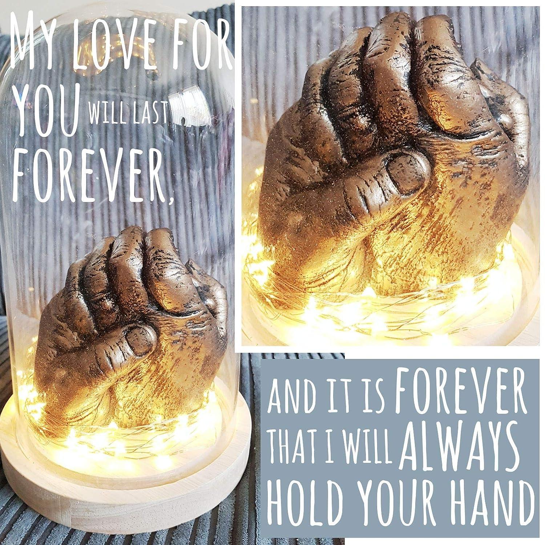 Molde de yeso de manos de adultos de BabyRice; para bodas, aniversarios, San Valentín, regalos: Amazon.es: Hogar