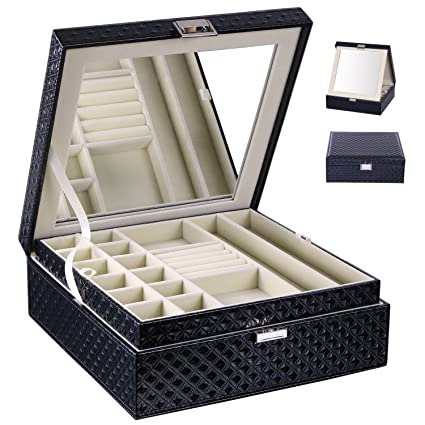 Amazoncom BEWISHOME Jewelry Box Organizer 28 Section Display