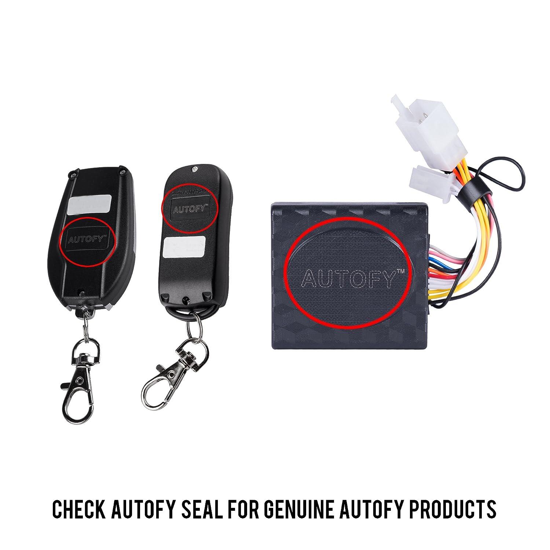 Autofy Lock0003 Universal Button Remote Key Anti Theft Alarm System Car Wiring Diagram Pro Track For All Bikes Motorbike