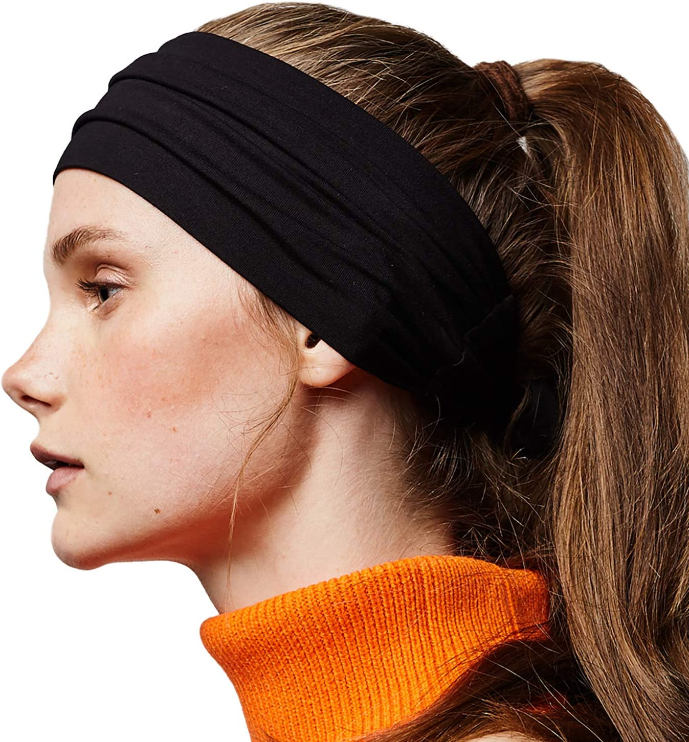 Tie Up Head Wrap Headband for Sports BLOM Beau Tie Adjustable Headband and Fashion. Running Yoga for All Head Sizes