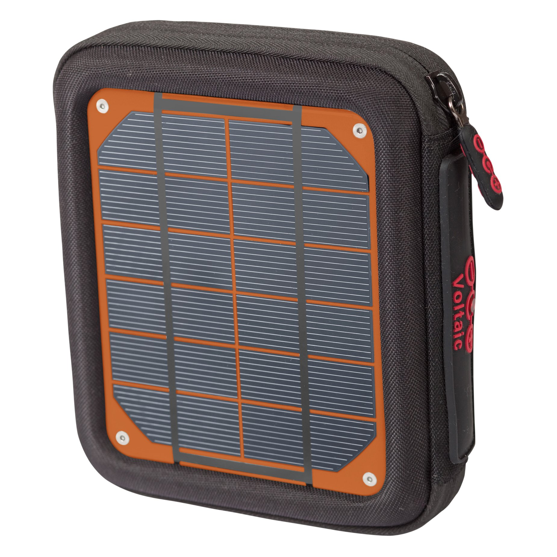 Voltaic Systems - Amp USB Portable Solar Charger with Emergency Backup Battery Pack (4,000mAh) | Powers Phones, Tablets, & More | Waterproof and UV Resistant Panels - Orange