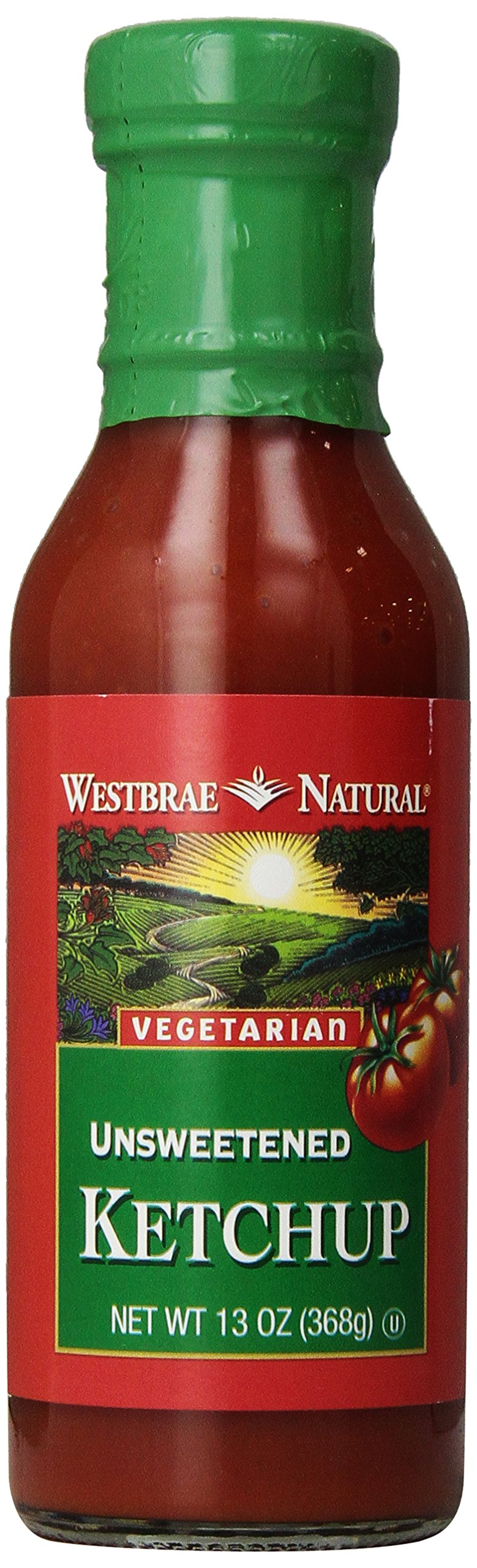 Westbrae Natural Vegetarian Ketchup, Unsweetened, One 13-Ounce Bottle