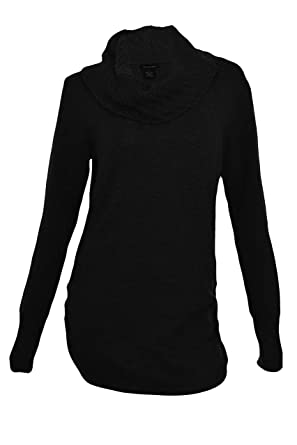 Calvin Klein Women's Long Waisted Cowlneck Sweater at Amazon ...