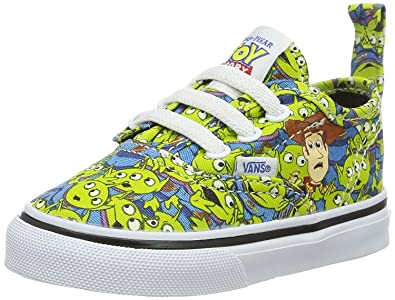 30e626969714 Vans Authentic Toy Story Green Aliens V Lace Toddlers Trainers Shoes-7   Amazon.co.uk  Shoes   Bags