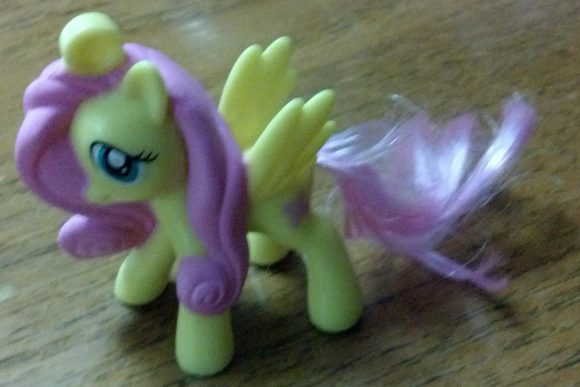 """My Little Pony Fluttershy McDonald # 4 2012 3"""" PVC Cake Topper (Out Of Package)"""