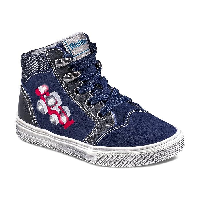 Richter Kinderschuhe Ilva, Zapatos de Cordones Derby para Niñas, Azul (Atlantic 7200), 37 EU