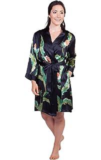 88e7c3255c1f TexereSilk Women s Silk Nightgown Robe Set - Luxury PJs (Desert Flower)