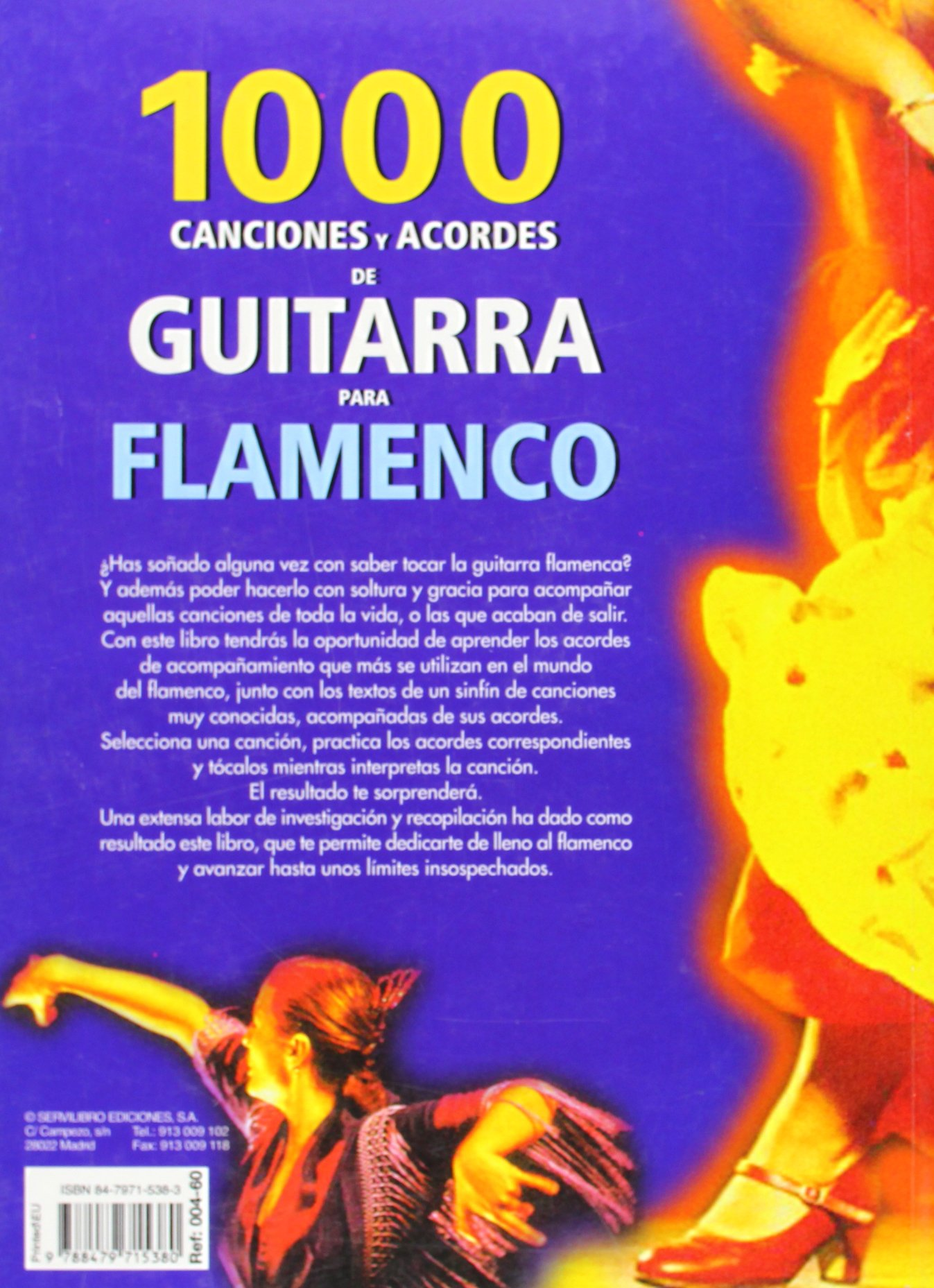 Flamenco : 1000 canciones y acordes de guitarra: Amazon.es: Aa.Vv ...