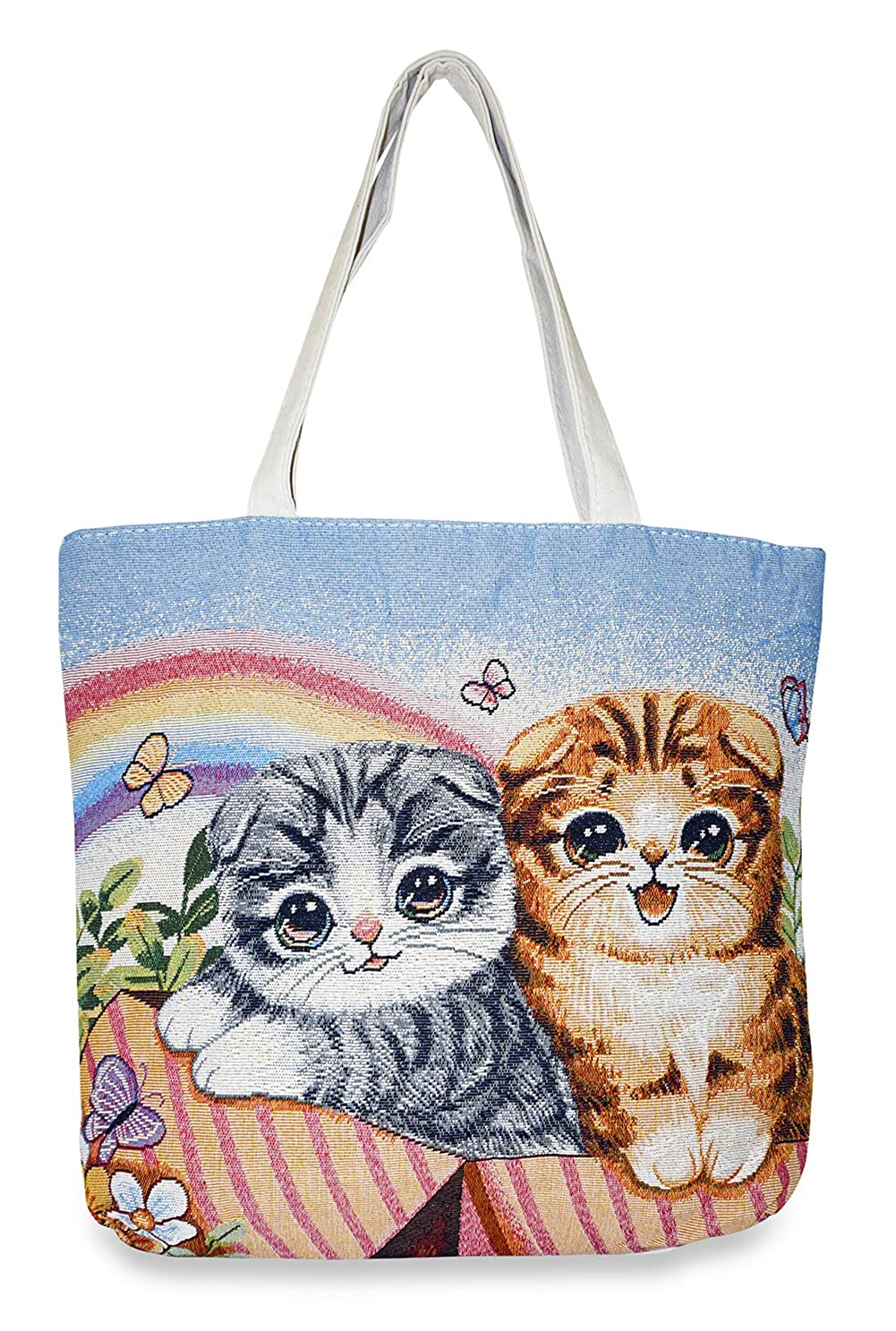 5e3e24d739 Amazon.com | Cat Tapestry Tote Bag X-Large, Rainbow Multicolor | Travel  Totes