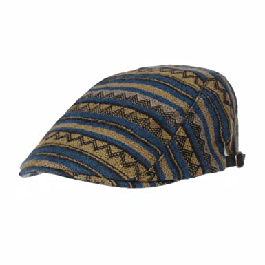 Withmoons Aztec Tribal Pattern Knitted Newsboy Hat Flat Cap Ld3123