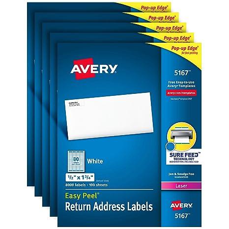 Amazon.com: Avery etiquetas de dirección de correo ...