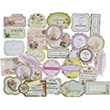 Eno Greeting Asianhobbycrafts Beautiful Decorative & Artistic Cards Diy Cuts Set Of 25Pcs For Scrapbooking And Diy Cards Making(Sd013)