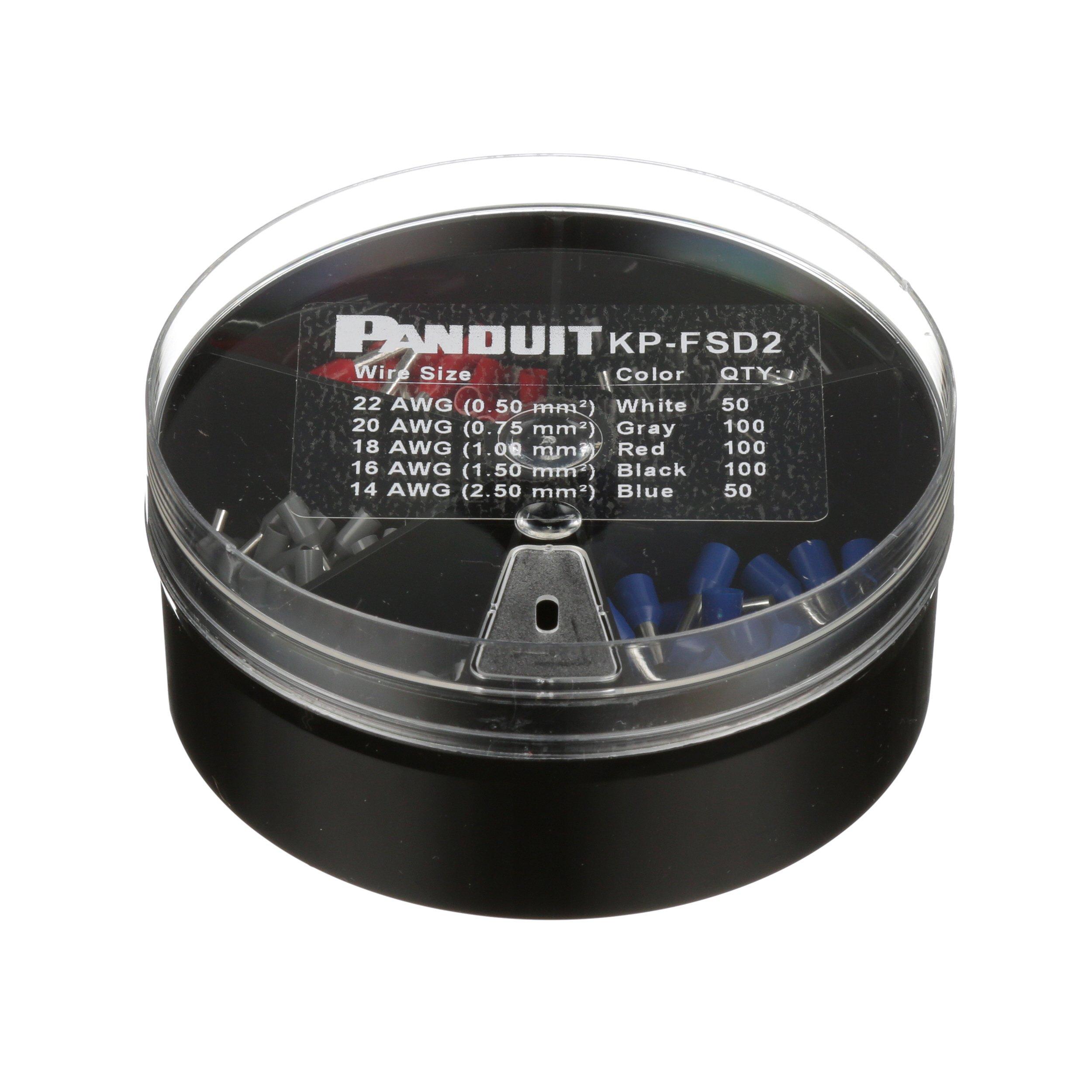 Panduit KP-FSD2 Vinyl Insulated Ferrule Kit, #22 - 14 AWG
