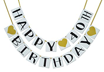Amazon Happy 40th Birthday Banner
