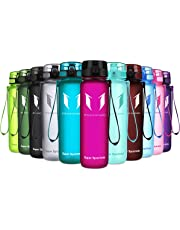 Super Sparrow Sports Water Bottle - 350ml & 500ml & 750ml & 1000ml - Non-Toxic BPA Free & Eco-Friendly Tritan Co-Polyester Plastic - For Running, Gym, Yoga, Outdoors and Camping