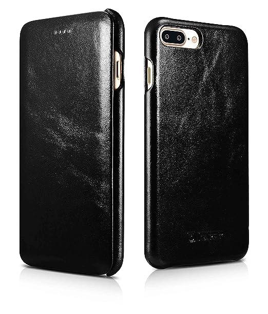 5 opinioni per iPhone 7 Plus Custodia in Pelle [iCareR Original] Copertura Flip Case Leather