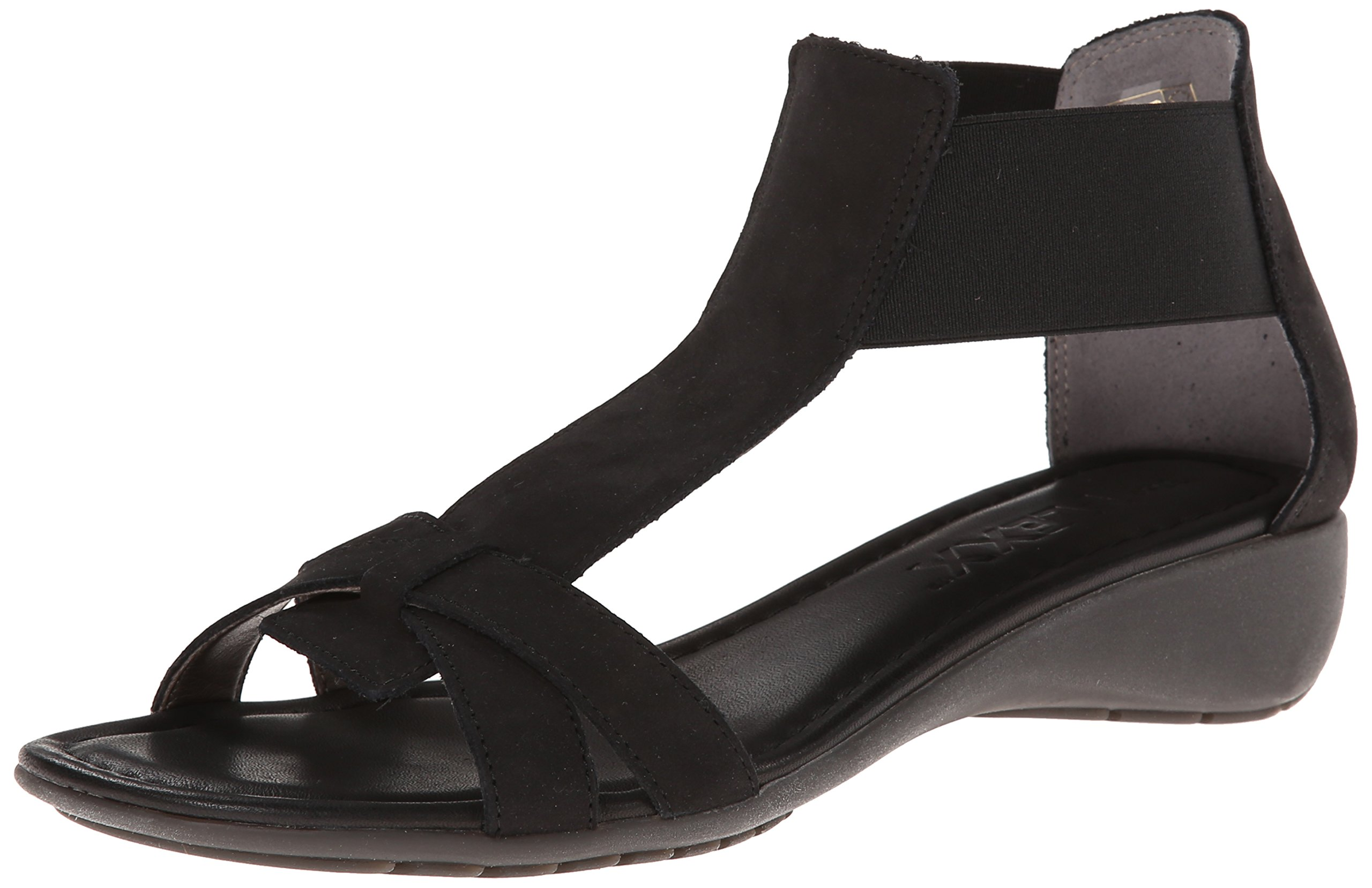 The Flexx Women's Band Together Dress Sandal, BLACK NUBUCK, 8.5 M US