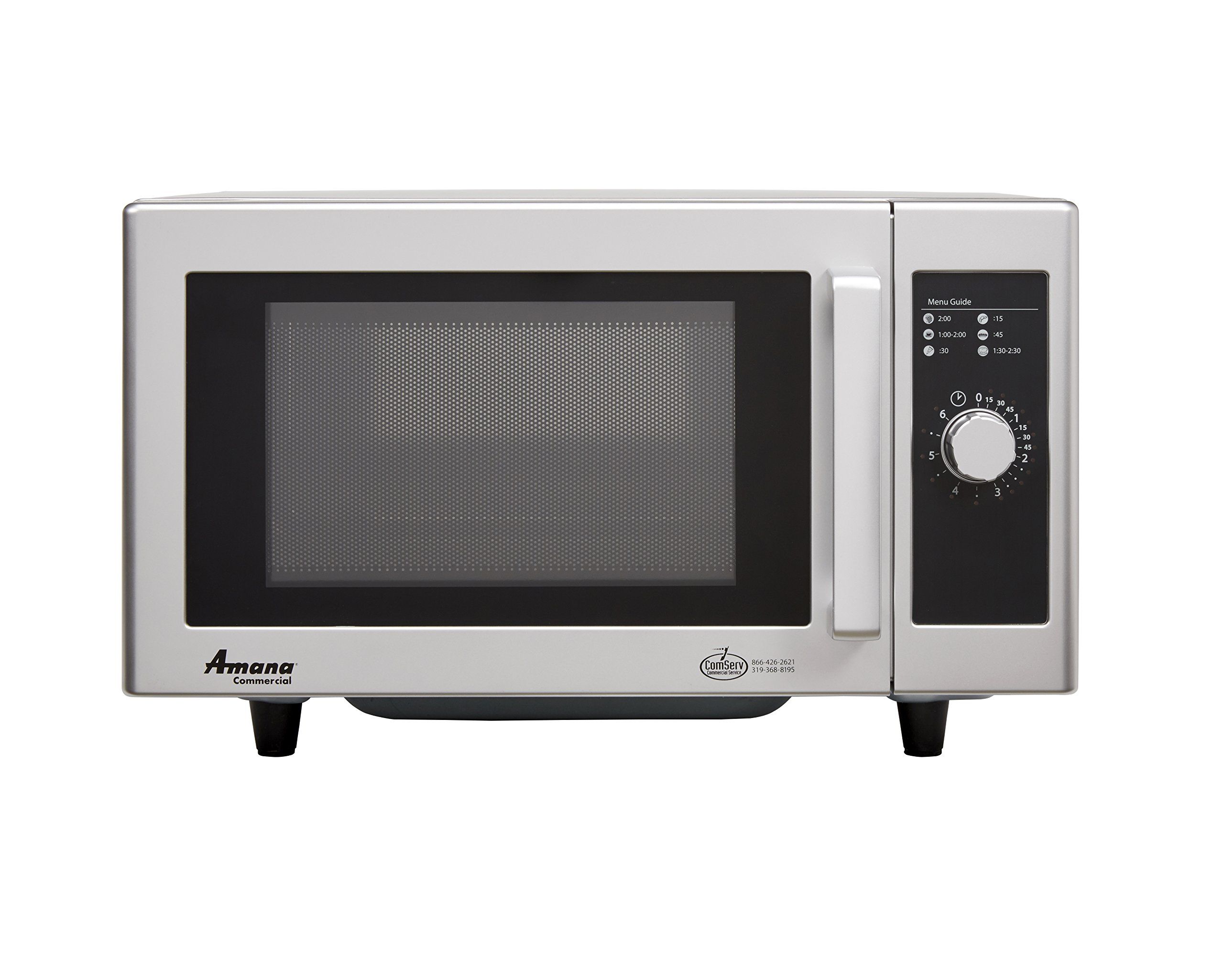 Amana (RMS10DS) 0.8-Cubic Feet 1000-Watt Light Duty Microwave Oven with Dial Timer (Stainless Steel)