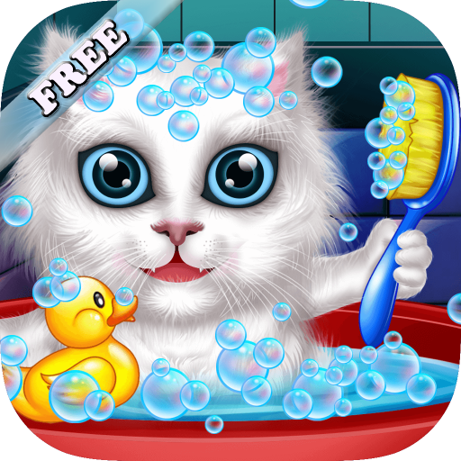 Wash and Treat Pets : help fluffy cats and puppies ! educational Kids Game - FREE (Best Tooth Brushing App For Toddlers)