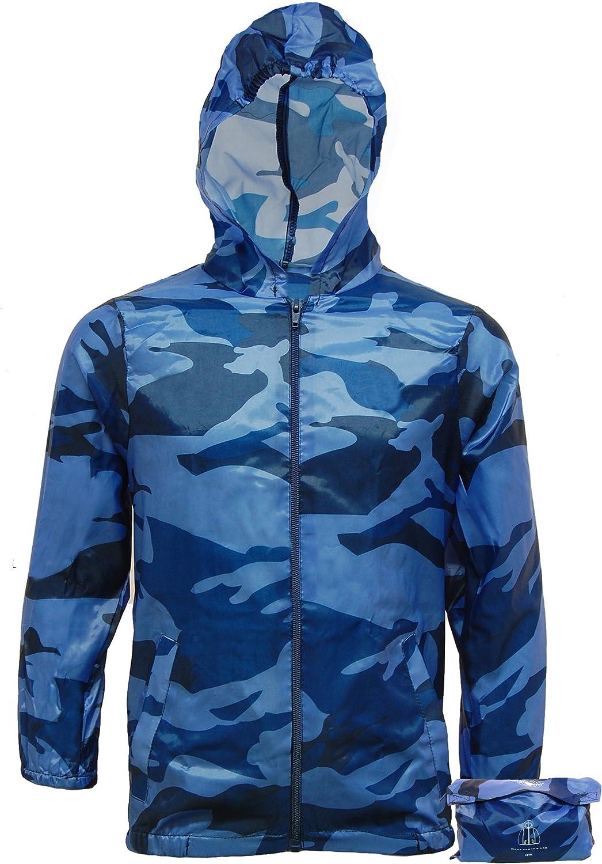 Kids Cagoule Arctic Storm Boys Lightweight Camo Rain Jacket Kagool Camouflage Cag in a Bag