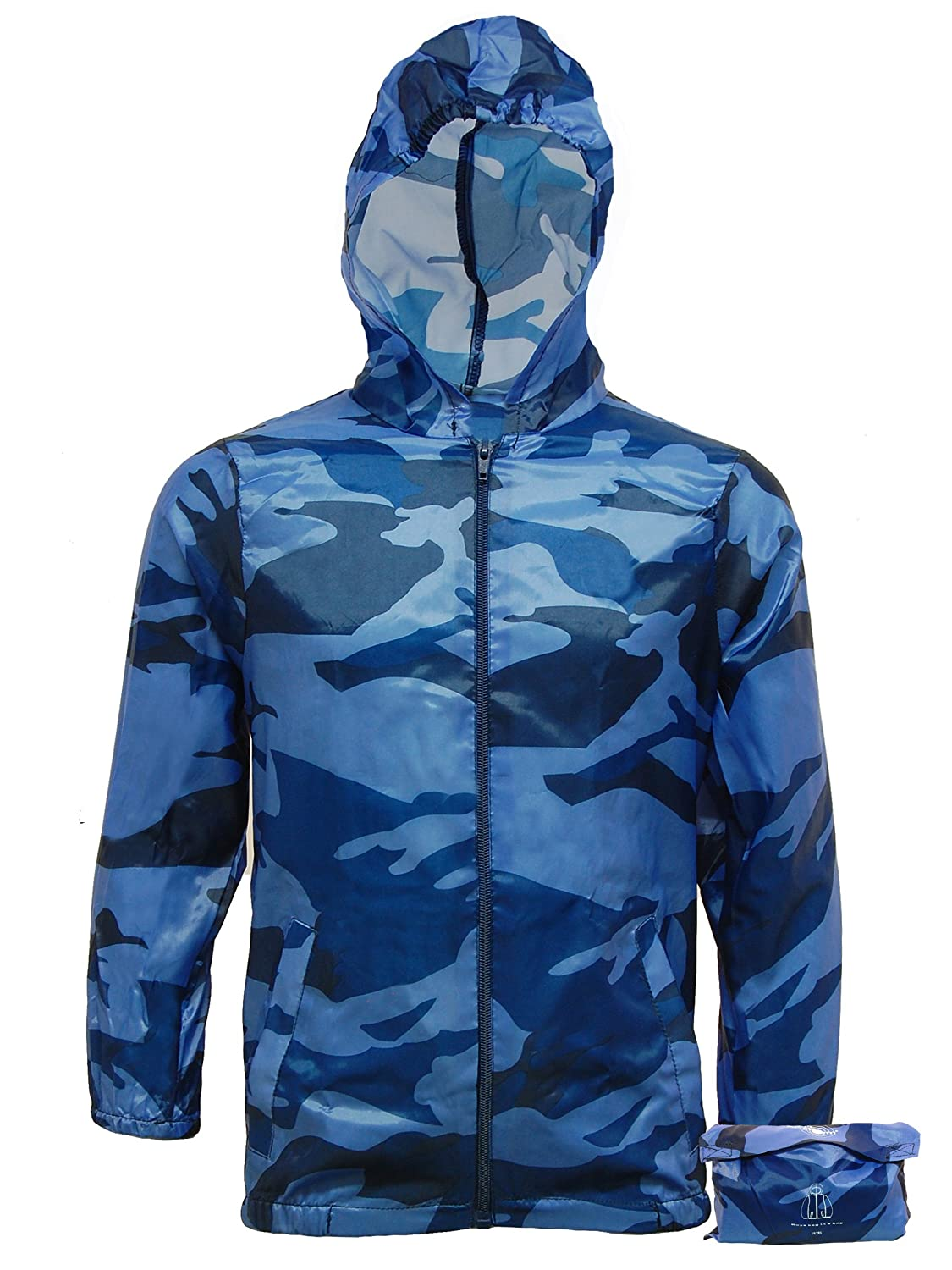 Boys Lightweight Camo Rain Jacket Kagool | Kids Cagoule - Cag in a ...