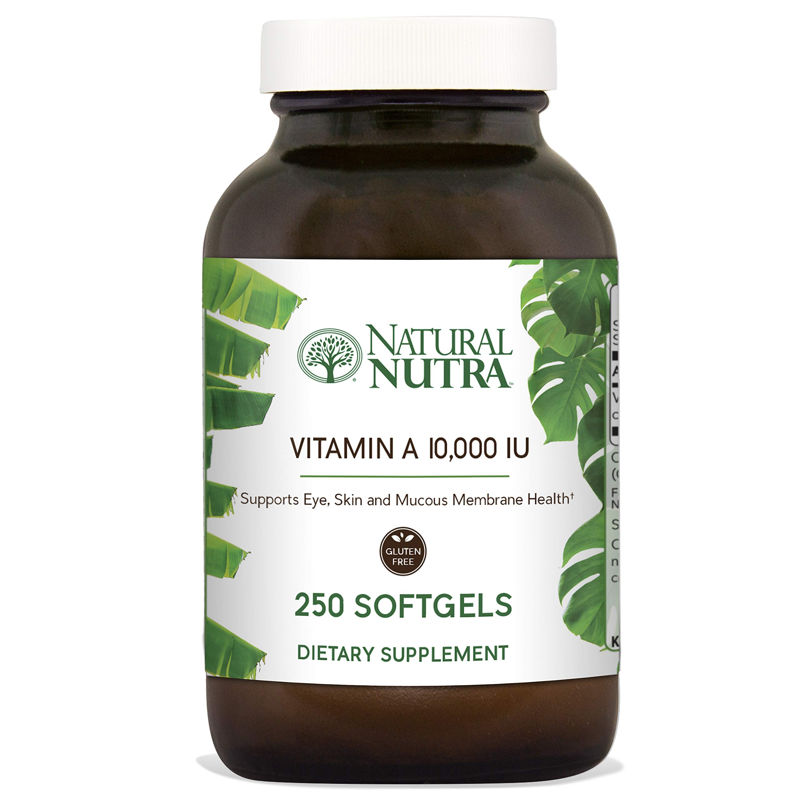 Natural Nutra Vitamin A Dietary Supplement from Cod Liver Oil, 10,000 IU, 250 Softgels