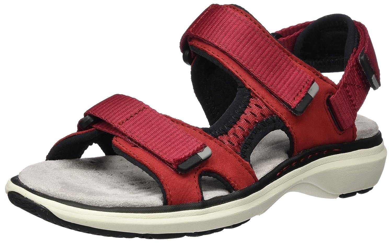 Clarks Un Roam Step, Sandalias de Talón Abierto para Mujer 39.5 EU|Rojo (Red Nubuck)