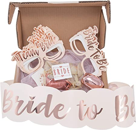 Team Bride Hen Party Decoration Pink and Rose gold Bride to be hen party sash HAWT Inc Rose Gold Hen Do Accessories